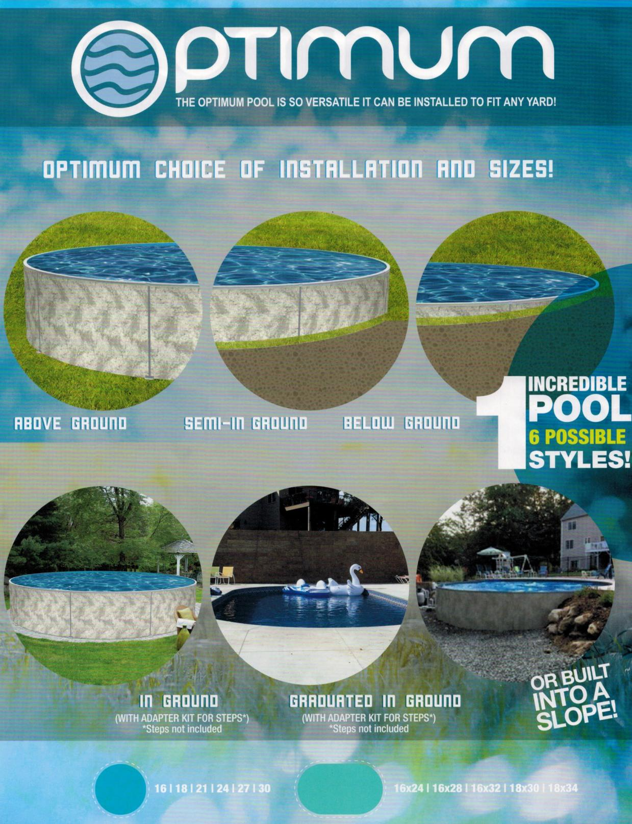 North Eastern Pools Types of pools chart