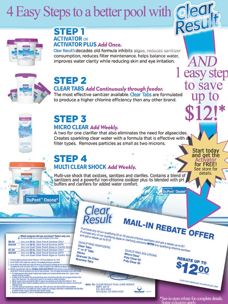 flyer for clear result chemical system