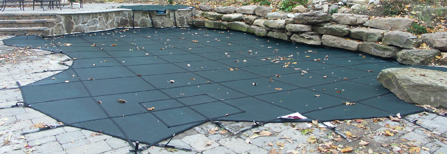 inground pool covered