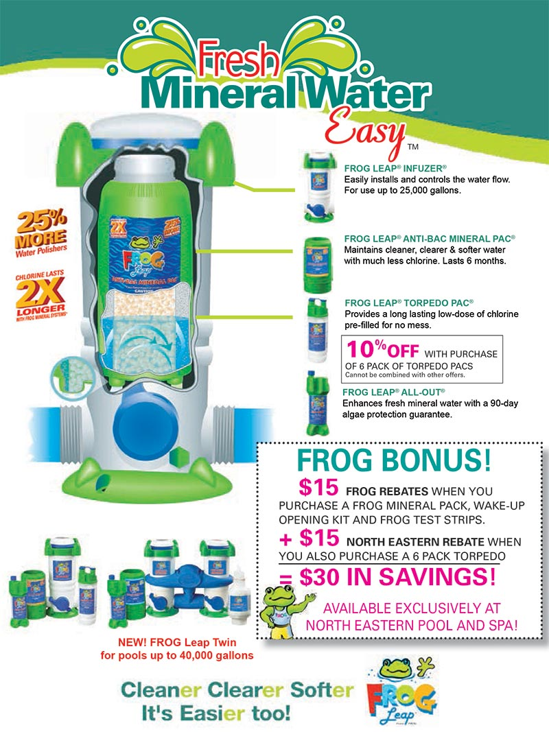 flyer for Frog Leap chemical system