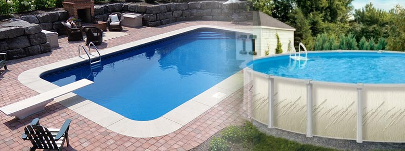 inground pool and above ground pool